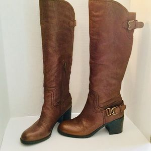 Franco Sarto A Tempest Leather KneeHigh Boot Brown
